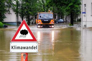 Warndreieck zum Klimawandel